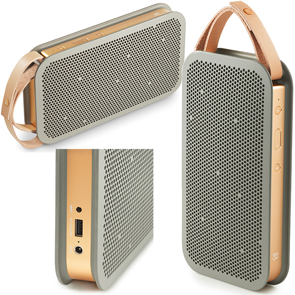 BeoPlay A2 in grey and gold and ideal match for the gold iPhone
